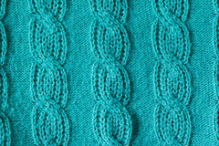 Green knitted wool texture can use as background Royalty Free Stock Images