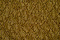 Green knitted yarn Stock Image