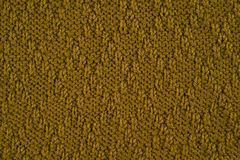 Green knitted yarn Royalty Free Stock Photography