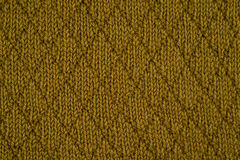 Green knitted yarn Royalty Free Stock Image