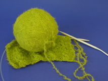 Green knitting Royalty Free Stock Image