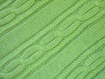 Green knitting Royalty Free Stock Photos