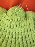 Green knitting Stock Photos