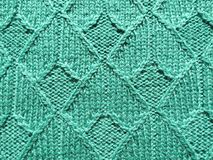 Green knitting Stock Photography