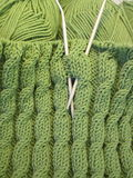 Green knitting Stock Image
