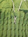 Green knitting Stock Image