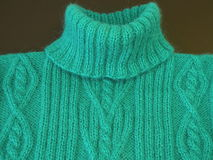 Green knitting jumper Stock Images