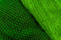 Green knitting wool texture background. Colorful knitted horizon Stock Photo