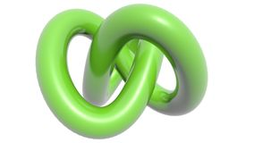 Green knot. A green knot on black background Royalty Free Stock Photos