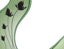 green kwiecista tło ilustracja wektor