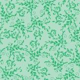 green kwiecisty wzór bezszwowy Zdjęcia Royalty Free