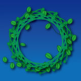 green låter vara cirkeln Arkivfoto
