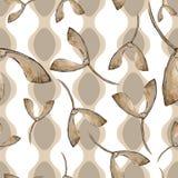 green låter vara lönn Blom- lövverk för bladväxtbotanisk trädgård Seamless bakgrund mönstrar stock illustrationer