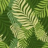 green låter vara palmträdet seamless vektor för modell Organisk natur vektor illustrationer