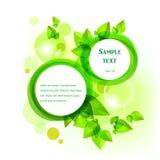 Green låter vara ramen Royaltyfria Bilder