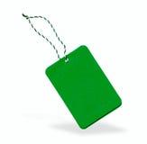 Green label  Stock Image
