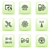 Green label for web 30. Vector icons set for websites, guides, booklets Stock Photography
