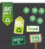 Green labels Royalty Free Stock Photos