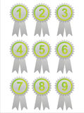 Green labels with numbers Royalty Free Stock Image