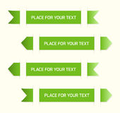 Green labels. With place for your text Stock Photography