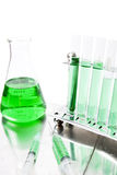Green laboratory equipment Royalty Free Stock Photos