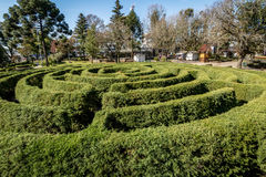 Green Labyrinth Hedge Maze & x28;Labirinto Verde& x29; at Main Square - Nova Petropolis, Rio Grande do Sul, Brazil Royalty Free Stock Photos