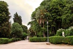 Green labyrinths of roman villa Lazaroni Royalty Free Stock Photography