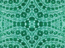 Green lace fabric background Stock Photo