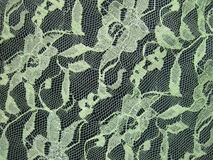 Green lace fabric royalty free stock photos