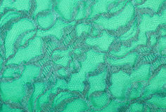 Green Lace on Green Spandex Stock Images