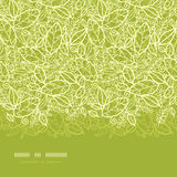 Green lace leaves horizontal seamless pattern Stock Image