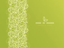 Green lace leaves vertical seamless pattern Stock Photography