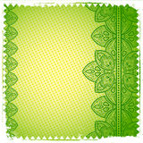 Green Lace ornament Royalty Free Stock Photo