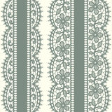 Green Lace. Vertical Seamless Pattern. Stock Images
