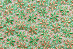 Green lace on white background. No any trademark or restrict matter in this photo Stock Images