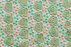Green lace on white background. No any trademark or restrict matter in this photo Royalty Free Stock Images