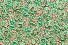 Green lace on white background. No any trademark or restrict matter in this photo.  Royalty Free Stock Photo