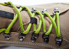 Green laces Royalty Free Stock Photography