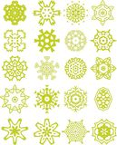 Green lacy ornaments collection. Collection of 20 lacy ornaments in vector and jpg formats vector illustration