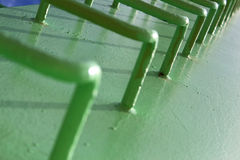 Green ladder. Green  ladder  paint  desktop wallpaper Stock Photo