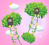 The green ladders going to the sky Royalty Free Stock Photos