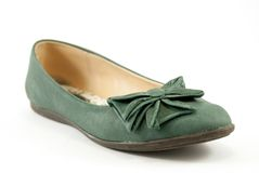 Green lady moccasin Stock Photos
