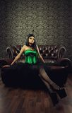 Green lady Royalty Free Stock Photography