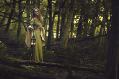 Green lady of the woods Royalty Free Stock Photos
