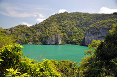 Green Lagoon. Angthong marine nationalpark at Thailand Royalty Free Stock Images