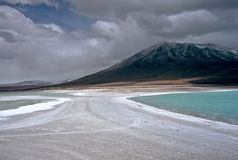 Green lagoon in Bolivia,Bolivia Stock Image