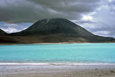 Green lagoon in Bolivia,Bolivia Royalty Free Stock Photo