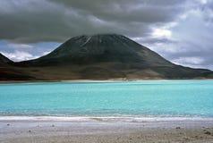 Green lagoon in Bolivia,Bolivia. Green lagoon in Eduardo Avaroa National Reserve,Bolivia Royalty Free Stock Photo