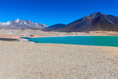 Green Lagoon (Laguna Verde), Chile Royalty Free Stock Images