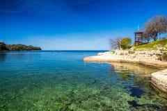 Green lagoon sea bay in Porec, Croatia - Istria. Green lagoon sea bay in Porec, Croatia - Istria, Europe royalty free stock photography
